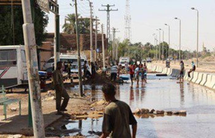 عودة مياه الشرب لقرى مركز أبو كبير بعد تفجير الخط الرئيسى على يد إرهابيين