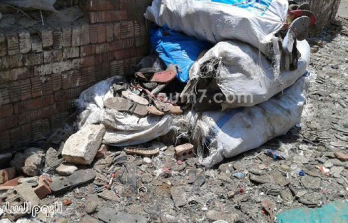 """بالصور.. أهالى قرية بالشرقية يستغيثون بـ""""محلب"""" لإزالة النفايات الخطرة"""