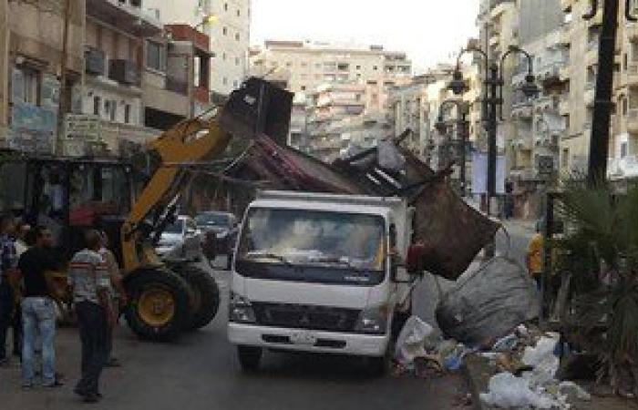 حملات لضبط النباشين بالعجمى ورفع إشغالات الطريق بالجمرك وشرق الإسكندرية