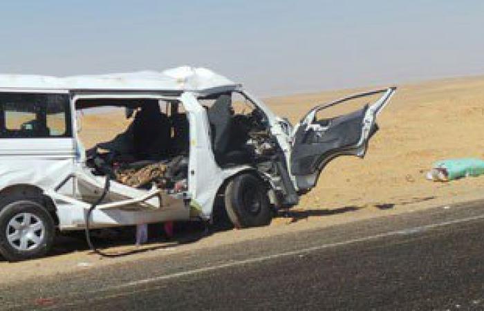 تصادم بين سيارتين يسفر عن إصابات أعلى الطريق الدائرى