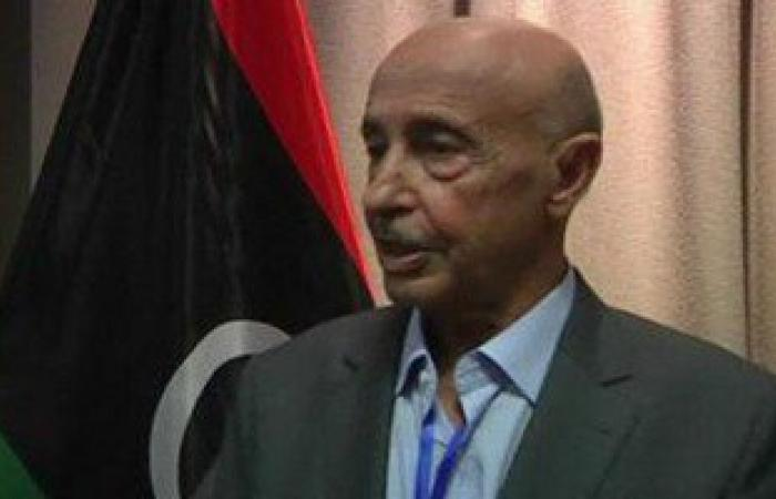 وصول رئيس مجلس النواب الليبى للمشاركة فى حفل افتتاح قناة السويس الجديدة