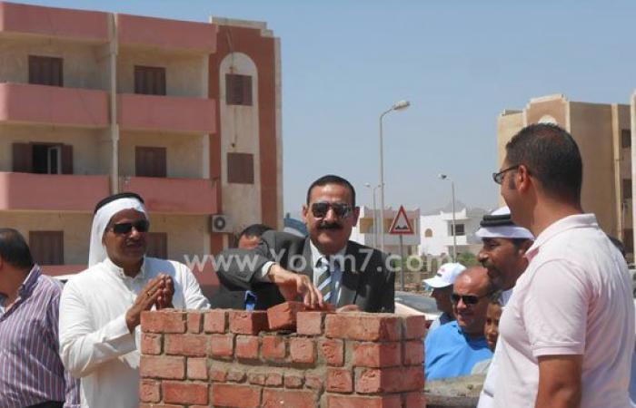 وضع حجر أساس مسجد بمدينة دهب تزامنا مع افتتاح قناة السويس الجديدة