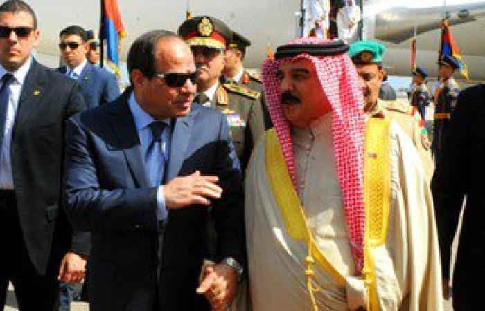 ملك البحرين يدعو السيسى لزيارة المنامة خلال مشاركته فى افتتاح القناة
