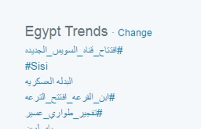 """افتتاح قناة السويس الجديدة يتصدر """"التريند"""" المحلى والعالمى على """"تويتر"""""""
