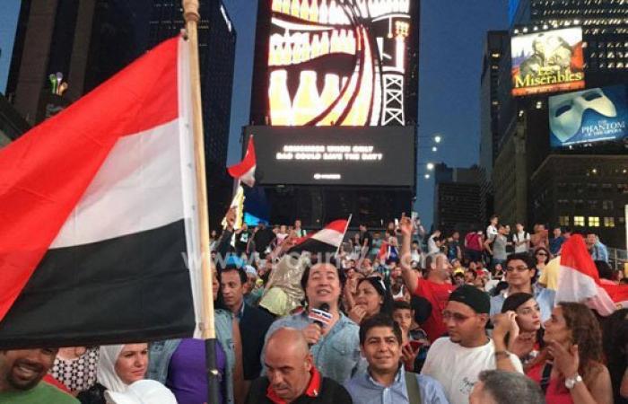 بالفيديو والصور..برنامج نيويورك فيجن ينقل احتفالات المصريين بافتتاح القناة