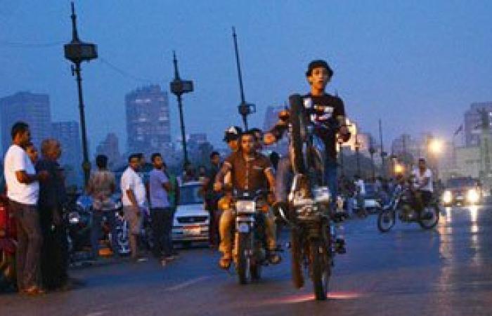 مسيرة بالدراجات النارية بكورنيش النيل احتفالا بافتتاح قناة السويس الجديدة