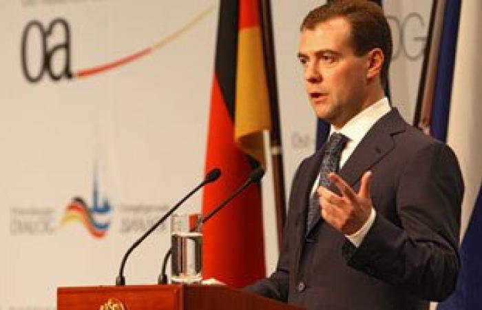 رئيس الوزراء الروسى يغادر القاهرة بعد مشاركته فى احتفالات قناة السويس