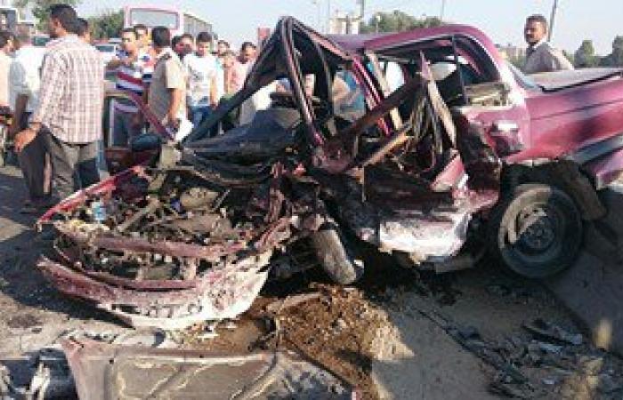 إصابة 6 أشخاص فى حادث انقلاب سيارة ملاكى بالوادى الجديد