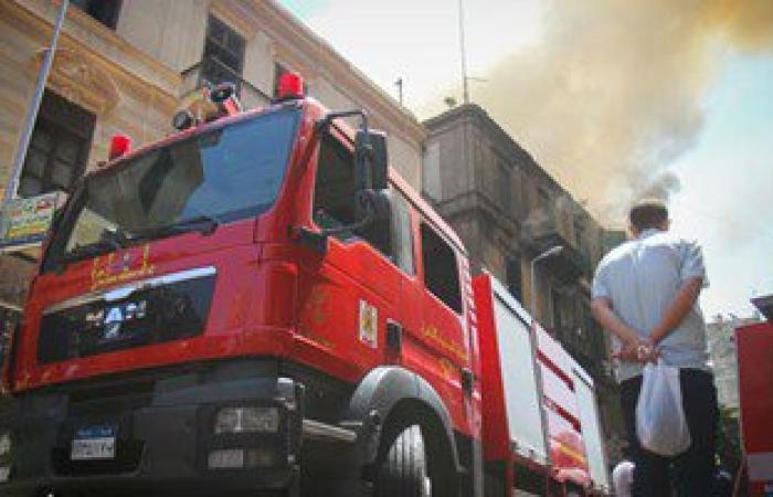 3 سيارات إطفاء تسيطر على حريق بمحل ملابس بشارع طلعت حرب فى وسط البلد