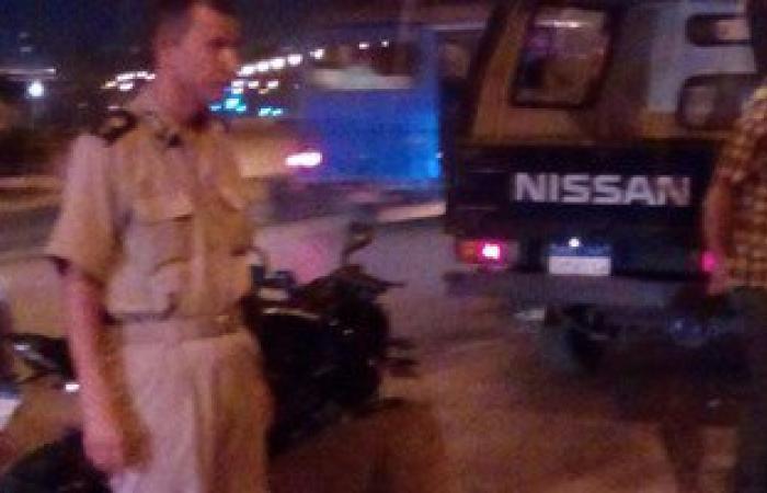 نجاة صحفى بعد سقوط سيارته من أعلى كوبرى أحمد عرابى بشبرا الخيمة