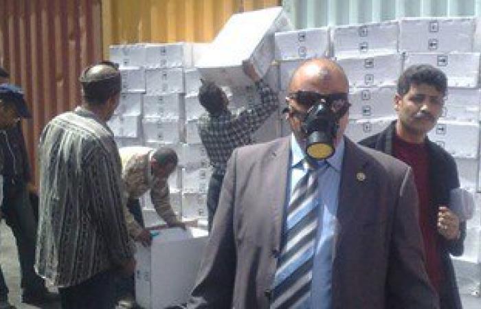 جمارك الإسكندرية تحبط محاولة تهريب مواد كيميائية شديدة الانفجار