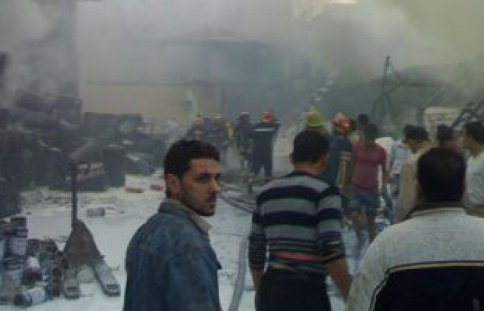 ننشر فيديو لحظة انفجار مصنع بلاستيك شبرا الخيمة