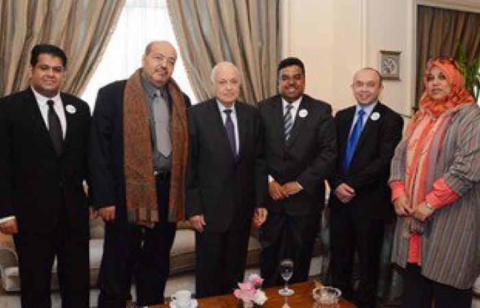 نبيل العربى يلتقى وفد المنظمة العربية الأوروبية للبيئة