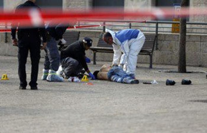 بالصور.. استشهاد فلسطينى حاول طعن شرطى إسرائيلى بالسكين فى القدس