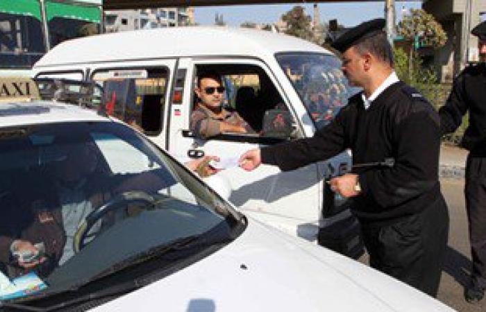 ضبط 863 مخالفة مرورية فى حملة صباحية بسوهاج