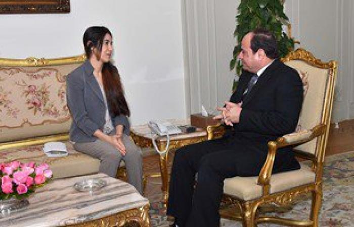 الفتاة الأيزيدية تشكر السيسى على استجابته للقاءها وتشيد بدور مصر
