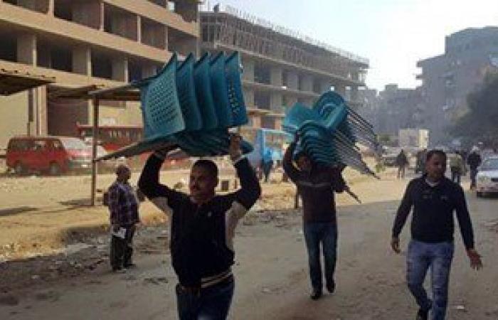 بالصور.. أمن القليوبية يشن حملة إزالة للأكشاك وإشغالات الطرق فى شبرا الخيمة