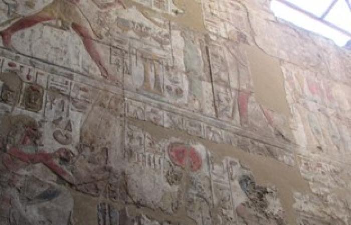 بالصور.. انتهاء أعمال ترميم مقصورة الإسكندر الأكبر بمعبد الأقصر