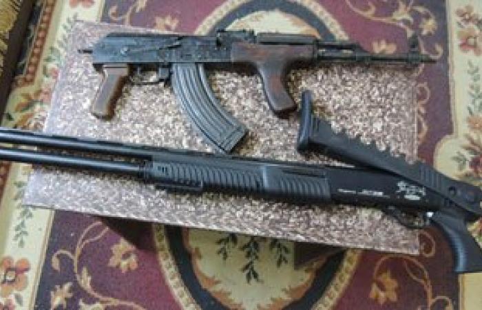 ضبط 4 قطع سلاح نارى وذخيرة فى حملة أمنية بقنا