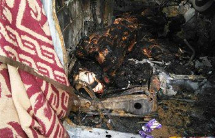 ننشر صور حادث استشهاد عقيد شرطة ومجند برصاص إرهابيين فى أبو النمرس