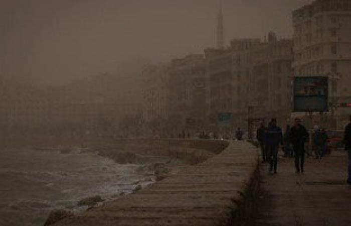 زيادة العاصفة الرملية على الإسكندرية وانخفاض درجات الحرارة