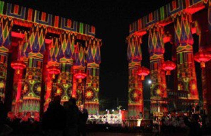 بالفيديو..معبد الأقصر يتزين لاستقبال السيسى لافتتاح العام المصرى -الصينى