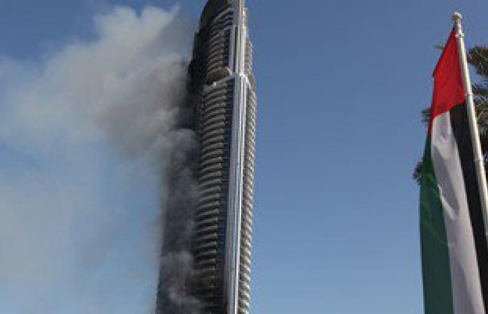 """شرطة دبى: حريق فندق""""العنوان"""" ليلة رأس السنة كان نتيجة ماس كهربائى"""