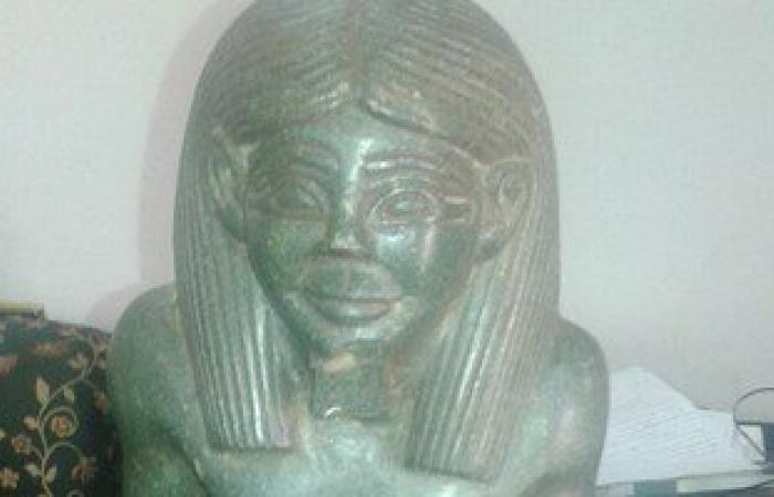 ضبط  تثمال فرعونى بحوزة محام من المحلة الكبرى فى القليوبية