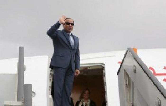 الرئيس السيسى يعود للقاهرة بعد جولة أسيوية