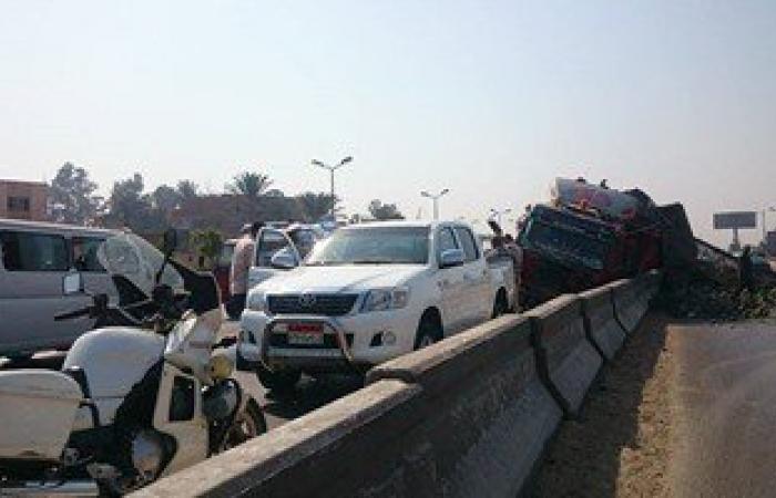 توقف حركة المرور بطريق السويس الصحراوى بسبب حادث تصادم