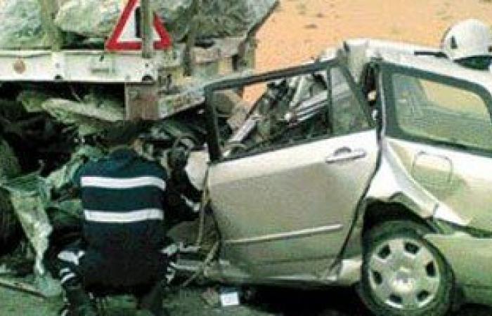 مصرع 3 أشخاص وإصابة 6 آخرين فى حادث تصادم بالطريق الدولى غرب الإسكندرية