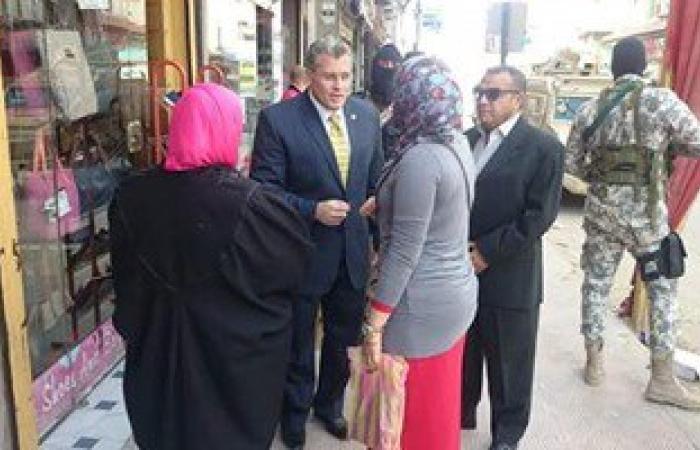 بالصور.. مدير أمن شمال سيناء يتفقد شوارع العريش