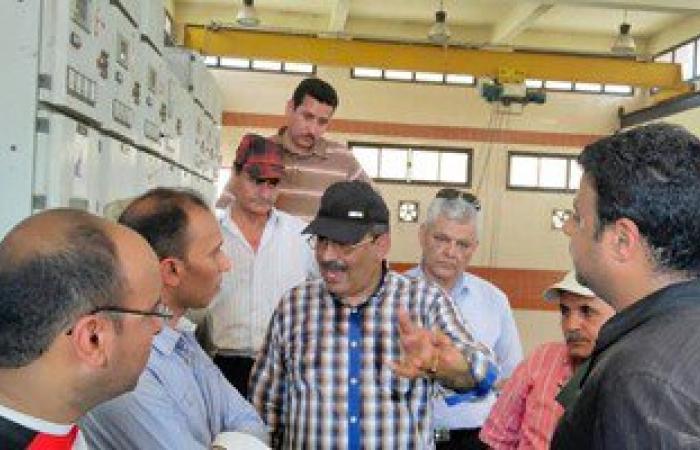 رئيس شركة مياه القناة يبحث مشكلات مياه القنطرة شرق وغرب