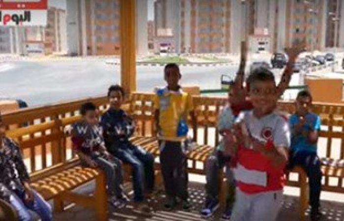 """بالفيديو.. شاهد فرحة أول عيد على سكان مدينة الأسمرات .. والأطفال:"""" بنحبك يا سيسى"""""""
