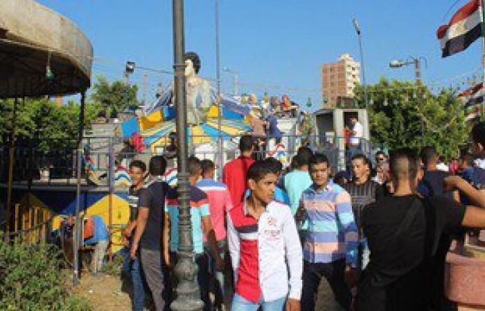 بالصور.. الآلاف بكفر الشيخ يحتفلون بثانى أيام العيد فى الحدائق والمتنزهات