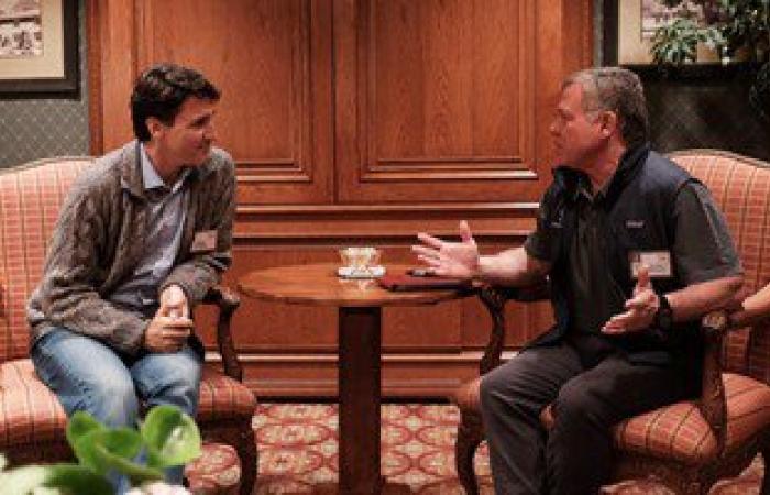 ملك الأردن يلتقى رئيس وزراء كندا على هامش الملتقى الاقتصادى