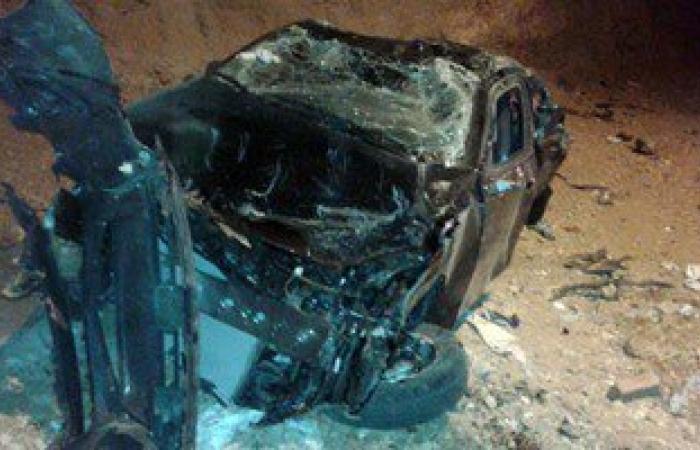 مصرع ثلاثة أشخاص فى حادث على الطريق الزراعى فى بنى سويف