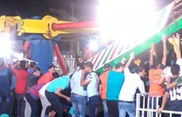 بالصور.. سقوط لعبة أطفال بإحدى ملاهى العباسية.. وأنباء عن وقوع إصابات
