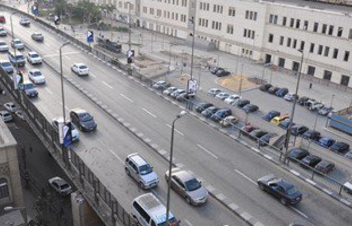 النشرة المرورية: انتظام حركة السيارات أعلى كوبرى أكتوبر والدائرى والكورنيش