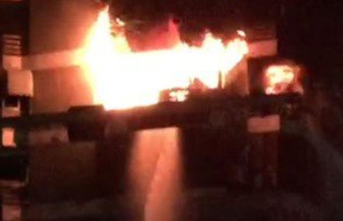 السيطرة على حريق بأحد المخازن الكهربائية فى ملوى بالمنيا