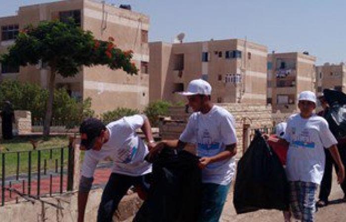 """المحافظات تتابع أعمال مبادرة """"حلوة يا بلدى"""" بمشاركة عدد كبير من المواطنين"""