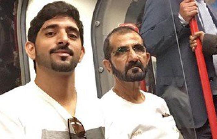 بالفيديو.. محمد بن راشد ونجله يستقلان مترو لندن بين الركاب