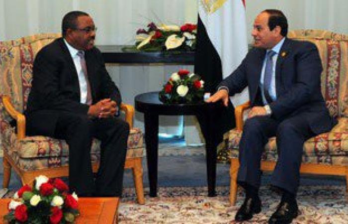 رئيس وزراء إثيوبيا يؤكد للسيسى حرص بلاده على بناء علاقات قوية وثابتة مع مصر