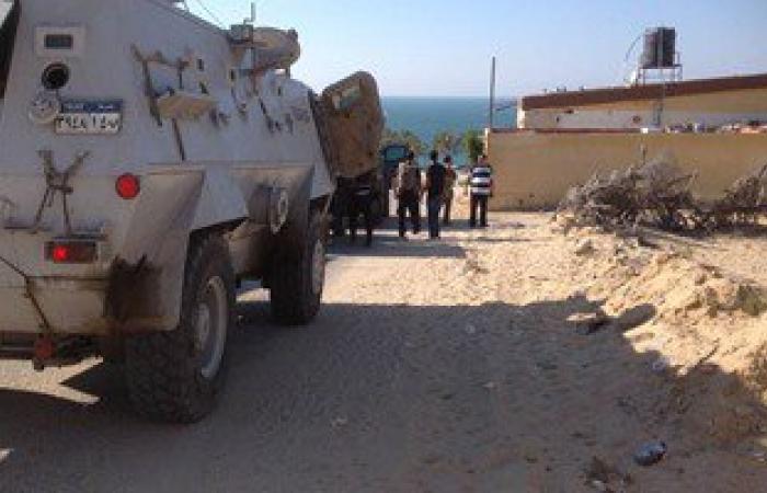 الأمن يحبط هجوما إرهابيا بالشيخ زويد ويقتل 5 مسلحين ويفجر 6 عبوات ناسفة
