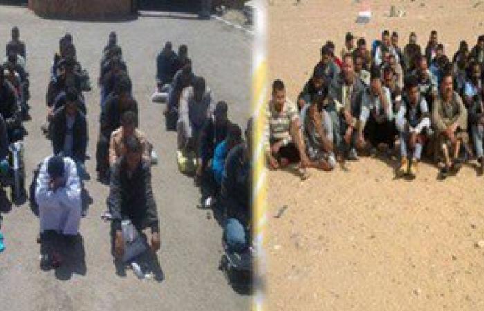 أمن مطروح يحبط تسلل 61 شخصا بينهم سودانيين إلى ليبيا عن طريق السلوم
