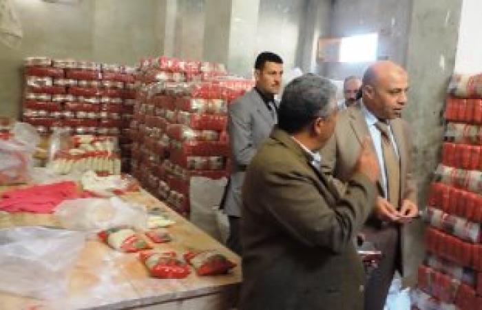 بالصور.. ضبط 32,5 طن أرز بمخزن شركة لتجارة المواد الغذائية فى مطروح