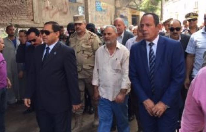 بالصور.. جنازة شهيد العريش تتحول لمظاهرة ضد الإرهاب بالمحلة