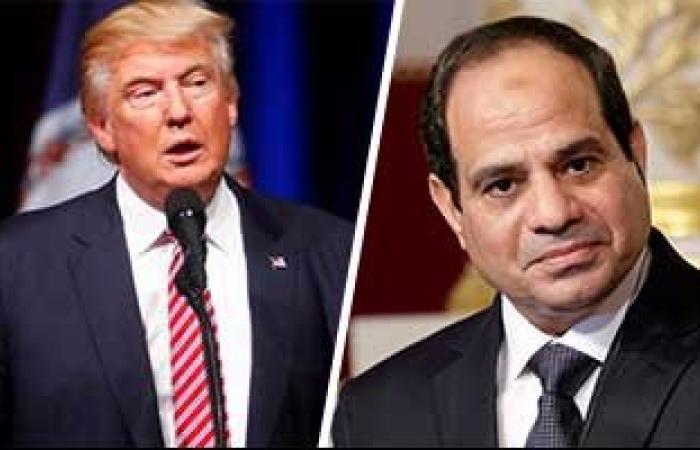 الرئاسة تصدر بيانا عن اتصال دونالد ترامب بالرئيس السيسى