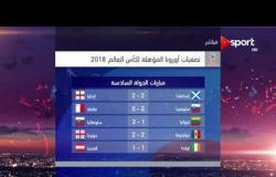 تصفيات أوروبا للمونديال - نتائج الجولة السادسة من تصفيات أوروبا المؤهلة لمونديال روسيا