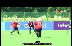 مباراة مصر ونيجيريا ضمن بطولة أمم إفريقيا للهوكى سيدات